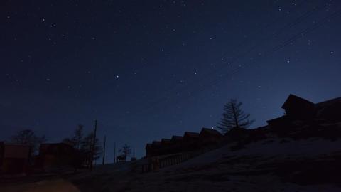 Winter night timelapse Stock Video Footage