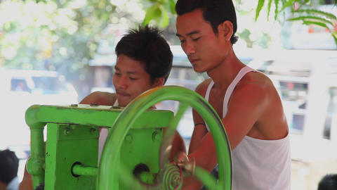 Cane juice preparation Footage