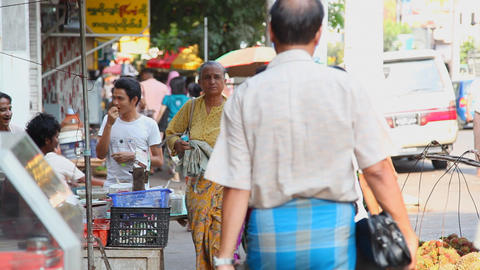 Yangon Street , Myanmar Footage
