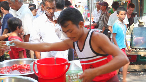 Lemonade seller in Yangon Stock Video Footage