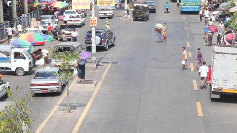 Street in Yangon, Myanmar Footage