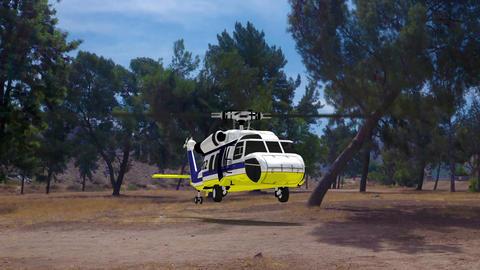 ヘリコプター CG動画素材