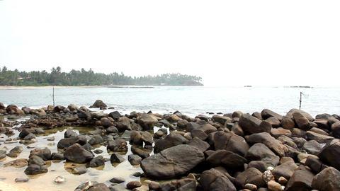 Fishermen stilts in Sri Lanka Footage