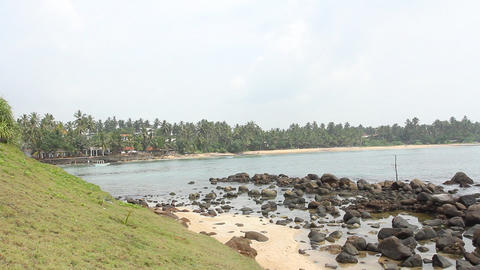 Fishermen stilts in Sri Lanka Stock Video Footage