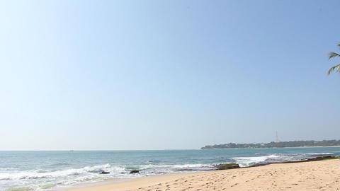 Tropical white sand virgin beach Stock Video Footage