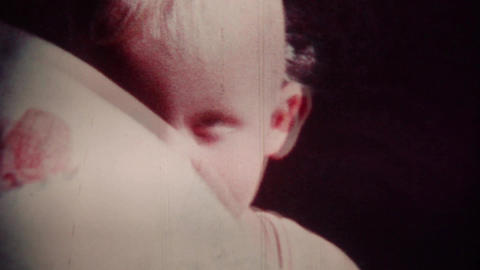 Happy Baby (vintage 8mm film footage) Stock Video Footage