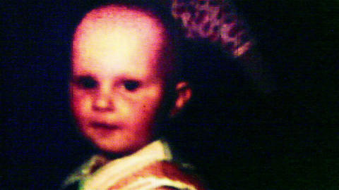 Child close-up- Vintage Super8 Film Stock Video Footage