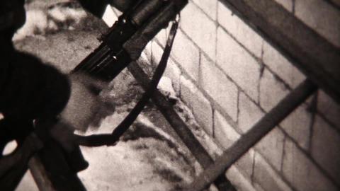 Soldiers close-up - Vintage Super8 Film Live Action