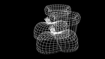 Rotation of 3D... Stock Video Footage