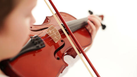 playing the violin Stock Video Footage