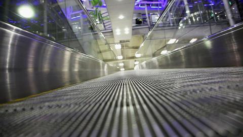 Moving Walkway in airport Footage