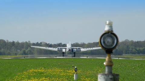 historic airplane Junkers JU 52 lift off 10915 Stock Video Footage