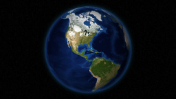 Green-Covered North America's Satellite View In... Stock Video Footage