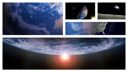 Beautiful Planet Earth Rotating In Outer Space In Multiple Frames Animation