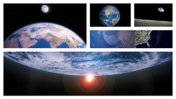 Beautiful Planet Earth Rotating In Outer Space In... Stock Video Footage
