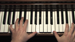 Piano Black White Stock Video Footage