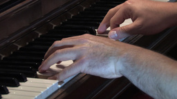 Piano Play 2 Stock Video Footage