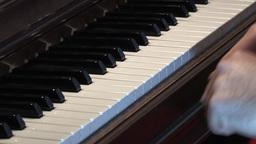 Piano Keys 3 Stock Video Footage