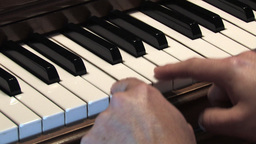 Piano keys 2 Footage