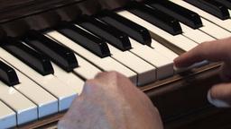 Piano keys 2 Stock Video Footage