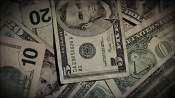 Money Rotate Zoom Out HD Stock Video Footage