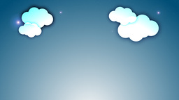 Clouds with twinkling stars Animation