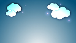 Clouds with twinkling stars Stock Video Footage