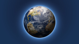 Rotating Planet Earth With Soft Glow (High Definition) Stock Video Footage