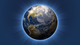 Rotating Planet Earth With Soft Glow (High Definition) Animation