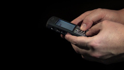 Man Holding Cellular Phone In Two Hands Stock Video Footage
