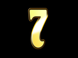 Animated Gold Embossed Number Seven Sign Stock Video Footage
