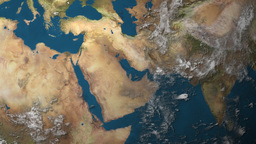 Satellite Image Of Planet Earth's Surface 3D Animation... Stock Video Footage