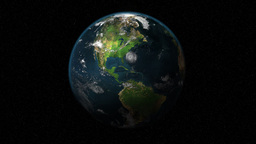 Planet Earth 3D animation (Long Shot) Stock Video Footage