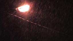 Raining in the night Stock Video Footage
