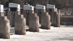 Dam panning footage Footage