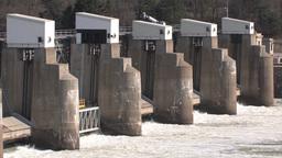 Dam panning footage Stock Video Footage