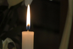 Candle stem burning Stock Video Footage