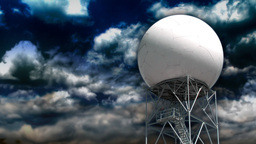 Weather radar tower Stock Video Footage