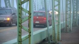 Driving on bridge Stock Video Footage