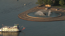 Pittsburgh Riverboat Passes The Point Footage