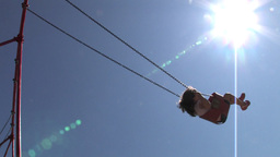 Child on swing Stock Video Footage