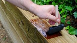 Wood painting Footage