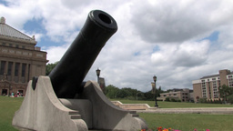 Cannon Monument Stock Video Footage