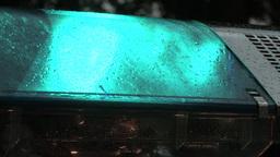 Flashing blue police lights Stock Video Footage