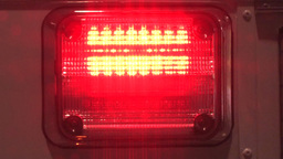 Flashing red and white police lights Stock Video Footage