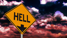 Hell is down sign Animation