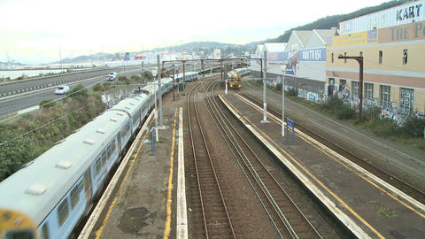 two trains Stock Video Footage
