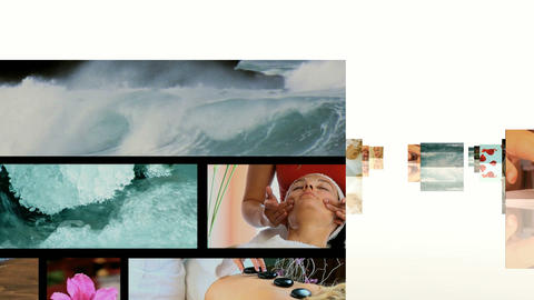 SPA MOTION 3D Stock Video Footage