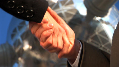 Handshake close up Stock Video Footage