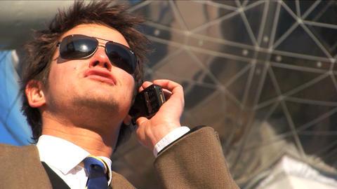 Close up businessman on mobile Footage